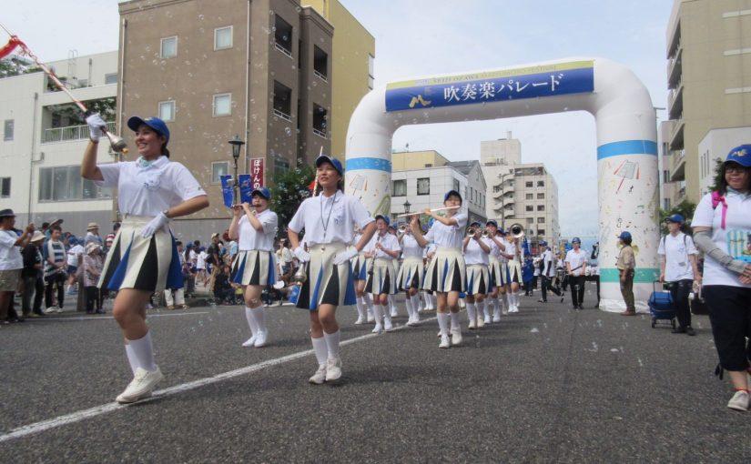 セイジ・オザワ松本フェスティバル吹奏楽パレードに出動しました!